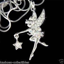 w Swarovski Crystal Fairy Tink Tinkerbell ANGEL Wing Star charm Pendant Necklace