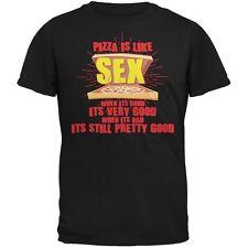 Pizza Is Like Sex Black Adult T-Shirt