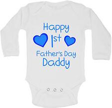 Happy Primo Fathers Day Daddy Personalizzati Manica Lunga Bambino Body Ragazzi