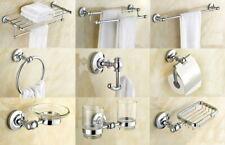 Polished Chrome Bathroom Hardware Set Bath Accessory Towel Rack Shelf Bar AJ022