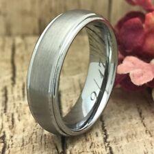 Tungsten Wedding Ring,Custom Engraved Wedding Band, Unisex Ring-Free Engraving