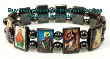 Saints/Skull/Countrylwooden/ Black Hematite Bracelet Rosary many different style
