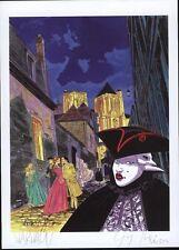 Ex-libris WARNAUTS RAIVES Carnaval n° et signé 15x21