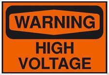 Warning High Voltage OSHA Business Safety Sign Sticker D207