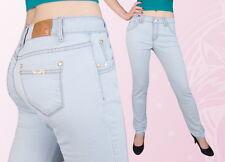 Damen Jeans Hose Jeanshose Normalsitzend Gerades Bein Blau 38 40 42 44 46 48