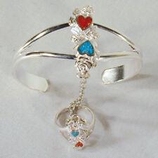 DOUBLE HEART SLAVE BRACELET jewelry women braclet #02