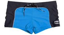 Aussiebum 70's swim Trunks Square Cut Shorts Retro speedo Black & Blue S,M,L,XL