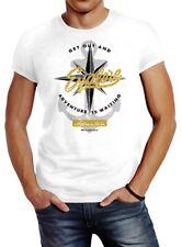 Señores t-shirt anclaje viento Rose Nautical Adventure go out and explore aventura