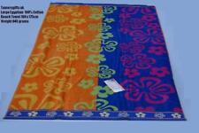 Egyptian Cotton Velour Pink Blue Green Red Multicolour  Beach Towel 100 x 175cm