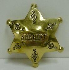 Large Brass Badge YOUR CHOICE Sheriff Marshall Deputy Marshall Texas Rangers NEW