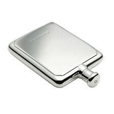 Sterling Silver Rectangular Hallmarked Hip Flask 4oz Personalise Engravable