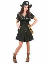 Déguisement cow girl femme robe noire Cod.214592