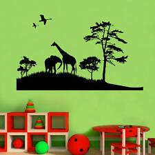 African Safari Decal Vinyl Wall Sticker Art Kids Room Décor Girls Boys