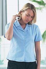 NEW LADIES WOMENS KUSTOM KIT KK704 BLUE OFFICE WORKWEAR STRETCH SHIRT BLOUSE
