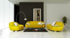 Leder Sofa Couch Polster Garnitur Sofagarnitur Moderne Couchen 3+2+1 Set F3013 g