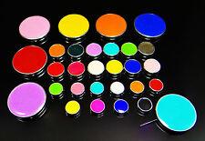Perle Perline Rotondo Acrilico Glitter PERLA spacer selettore colori tra Perle, Nuovo