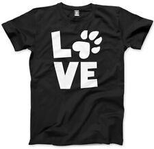 Love Paw Print-Gato Perro amante del animal doméstico Camiseta Unisex para hombre
