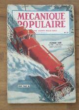 Mecanique populaire,1948 N° 21