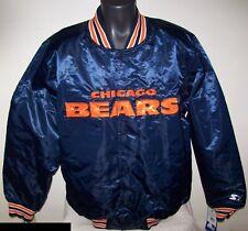 CHICAGO BEARS Throw Back STARTER Jacket BLUE S M L XL 2X 1946 BEARS FRANCHISE