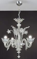 Muranese lustre en verre de Murano 3 lumières
