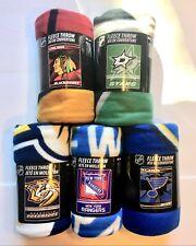 "NHL SOFT FLEECE THROW 50""x 60"" STADIUM BLANKET NEW HOCKEY - PICK YOUR TEAM"