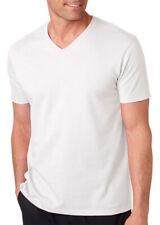 Gildan Men's Soft Style V-Neck Double-Needle Short Sleeve T-Shirt, Pack5. 64V00
