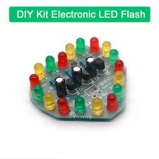 DIY Kit Circular Electronic LED Flash Circuit Light 12Pcs Production Red Green