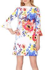 Tahari ASL Floral Printed Bell-Sleeve Shift Dress woman Size 2/12/16  NWT $128