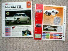 Vintage LOTUS Cars BROCHURES IMP Collection: Elan,Elite,49,