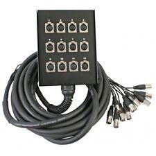 Pulse 12 Way XLR Multicore Loom Stage Box Snake - 10 / 20 / 30m
