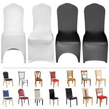 50pcs/100pcs Housse de Chaise Couverture Elastique Mariage Restaurant Décoration