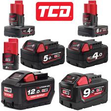 Milwaukee 12V or 18V Battery Selector - 2.0Ah, 4.0Ah, 5.0Ah, 9.0Ah + 12.0Ah