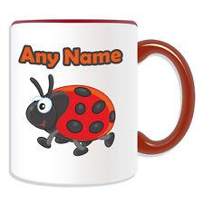 Personalised Gift Ladybird Mug Money Box Lady Bird Bug Cup Tea Coffee Customise