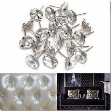 Crystal Nails Tacks Studs 20mm Dia Buttons Sofa Wall Upholstery Decor 20pcs Hot