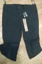 Ladies liquorice blue crop  jeans 3/4 leg by NAUGHTY designer Size  8 10 12 14