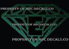 VRS Diamond CUSTOM INITIAL E DIAMANTE JEWEL STONE Metal CAR Decal Wall Sticker