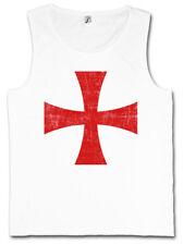 TEMPLAR CROSS I TANK TOP Rotes Tempelritter Orden Kreuz Templerorden Ordo Red