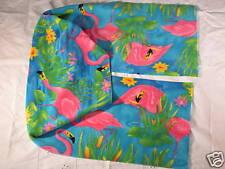Pink Flamingo on Blue Fleece Scarf XtrWide