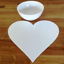 a forma di cuore Set tovaglietta - Bianco