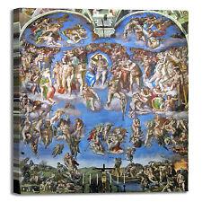 Michelangelo ultima sentenza quadro stampa tela dipinto telaio arredo casa