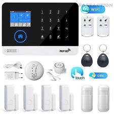 WIFI GSM SMS Wireless Home Burglar Security Arm Disarm Alarm system APP Remote