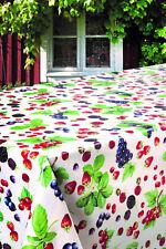 PVC Table Nappe Baies d'été Fruit fraise mûre framboise Essuyer Capable