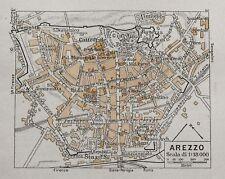 Antica Stampa=Topografica= AREZZO =Scala1:18000 -1909c
