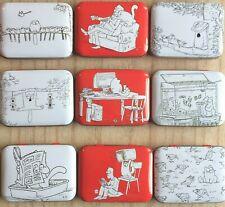 Simons Cat Collectable Tin Gift White Red Storage Simon's Lover Trinket Box UK