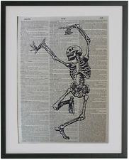 Skeleton Print No.350, anatomy print, funny skeleton, gothic gifts, halloween