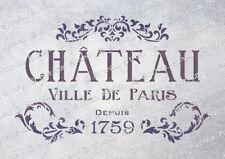 Paris Chateau STENCIL 4 sizes CV Vintage French Shabby Chic, SUPERIOR 250 MYLAR