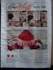 1934 Whipped Cherry Royal Gelatin Dessert Mold Ad