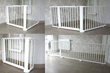 Absperrgitter Türschutzgitter Treppenschutzgitter 119 bis 368 cm massiv weiss