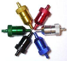 "Inline 1/4"" 5/16"" Aluminum Fuel Gas Filter Motorcycle Harley Davidson"