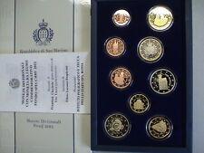 RSM 2012 SAN MARINO SERIE PROOF UFFICIALE 9 MONETE con 2 EURO DECENNALE FS PP BE